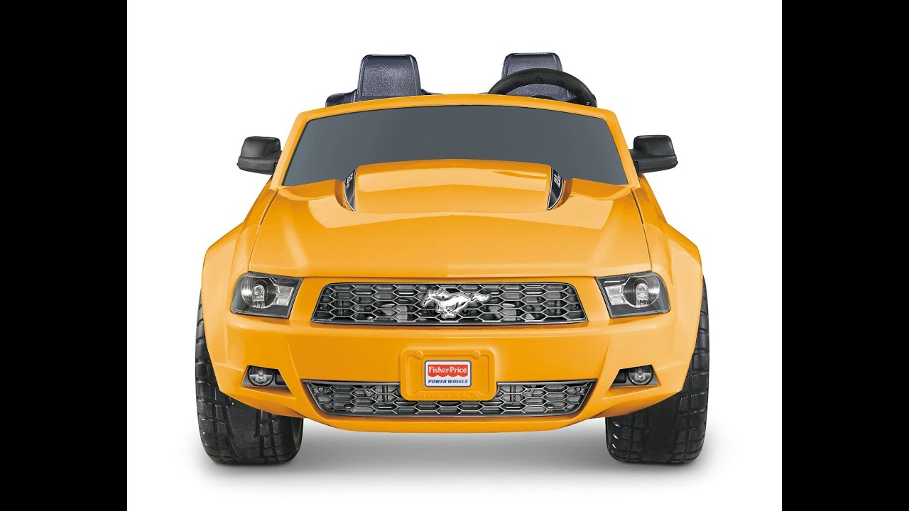 ford mustang car for kids fisher price power wheels yellow ford mustang ride on car