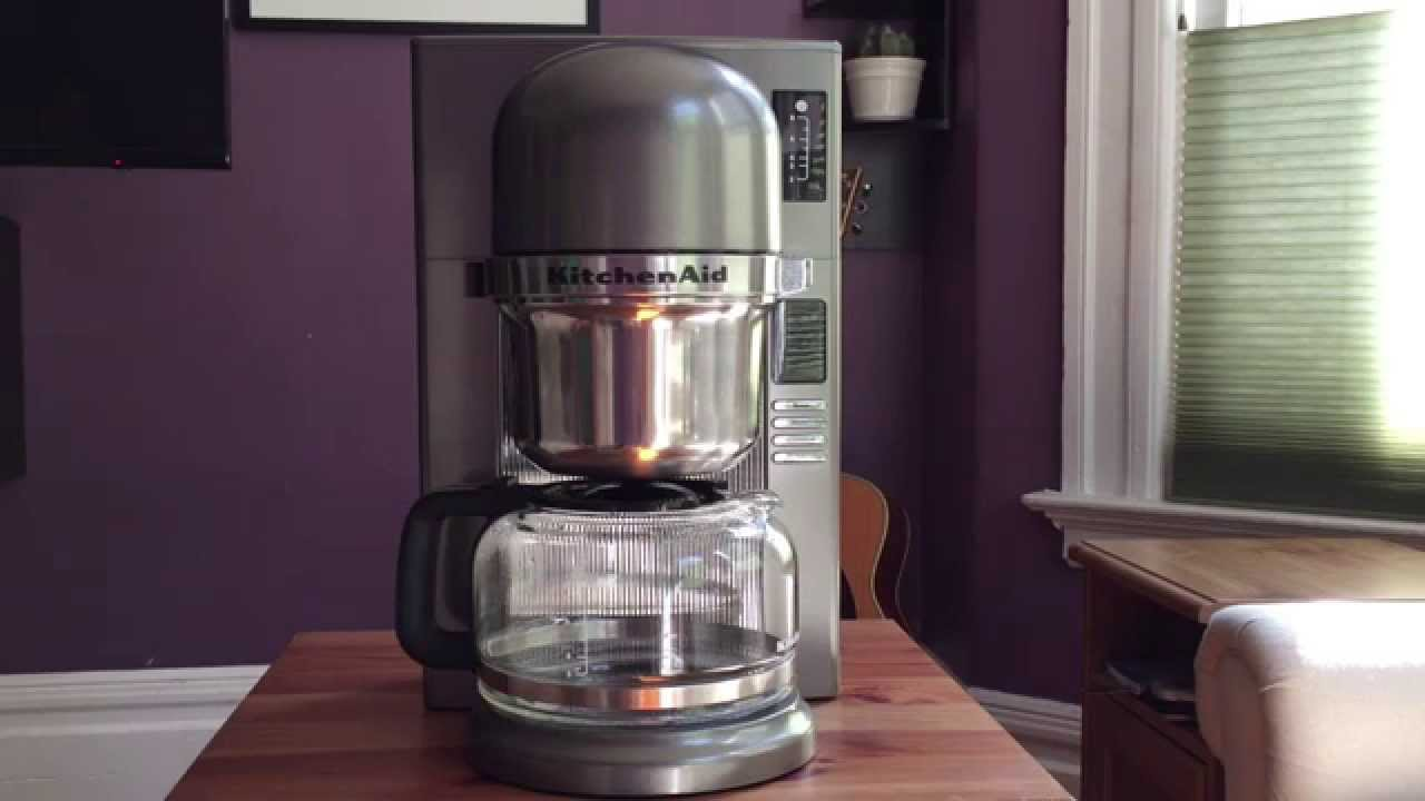 Coffee Maker Review Kitchenaid Pour Over Brewer Youtube