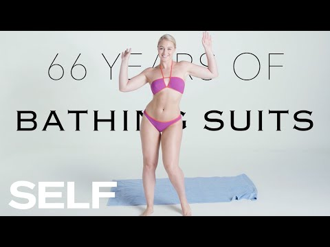 66 Years of Bathing Suits Featuring Iskra Lawrence | SELF