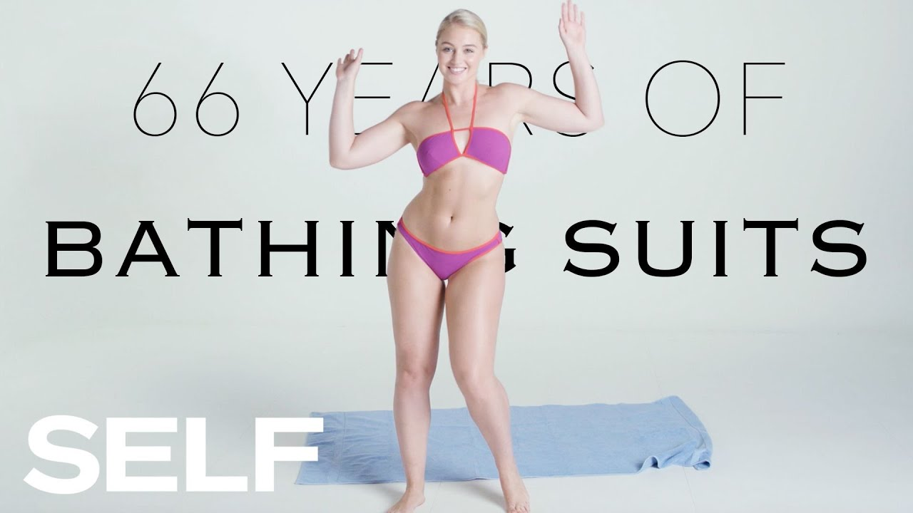1f69c59023da6 66 Years of Bathing Suits Featuring Iskra Lawrence | SELF - YouTube