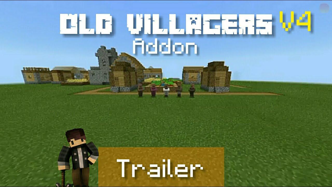 Old Villagers Addon V10 – Random Update  Minecraft PE Mods & Addons