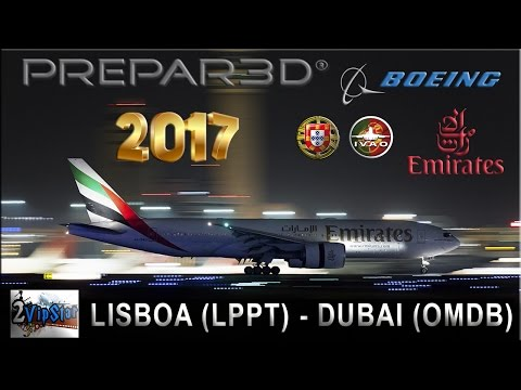 NOVO FLIGHT SIMULATOR 2017 | B773 EMIRATES | LISBOA (LPPT) -