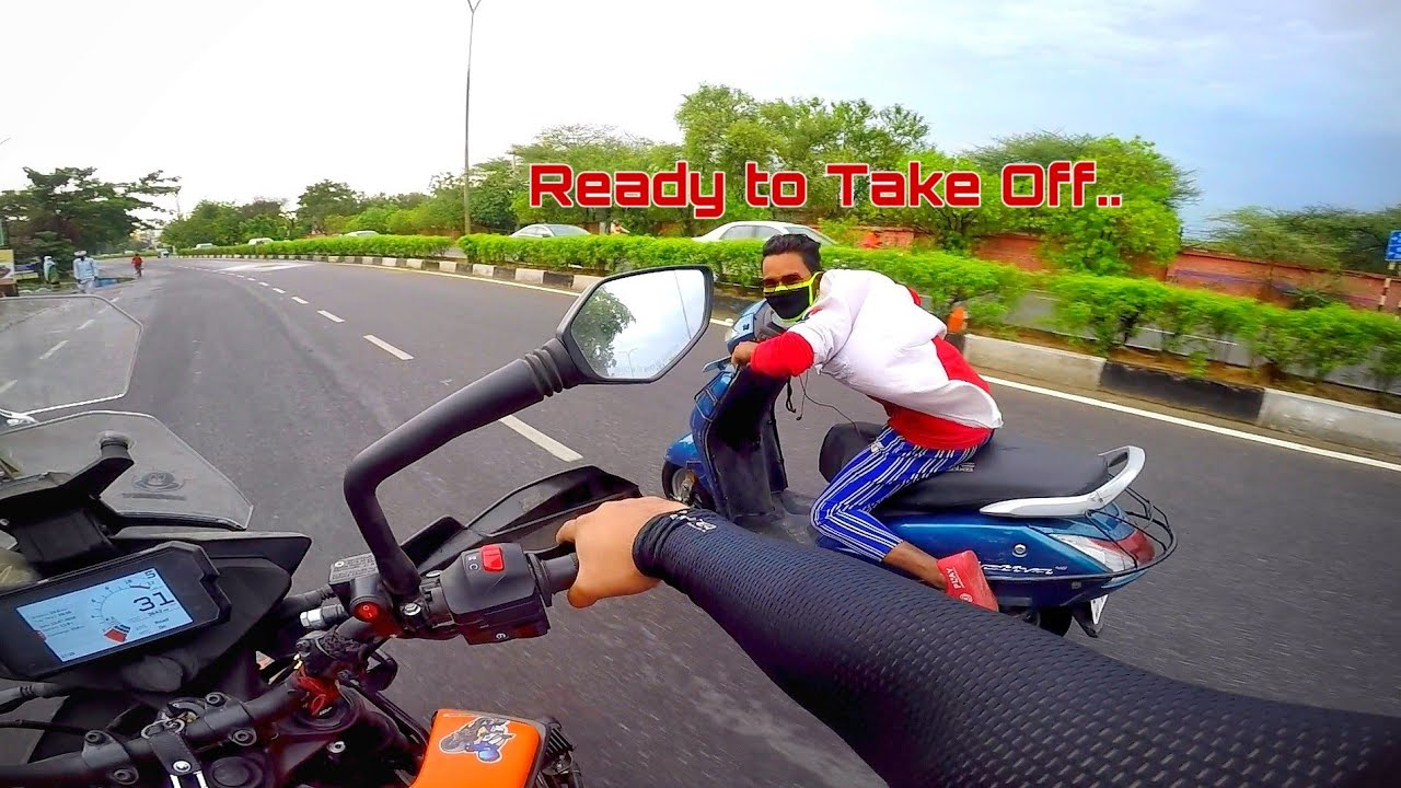 Idiot School boy Wants to Race with 390 Adventure | Jaipur