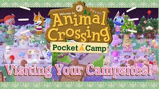 Visiting Your Animal Crossing Campsites #2 🏕️