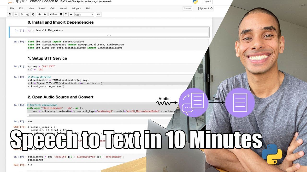 Converting Speech to Text in 10 Minutes with Python and Watson