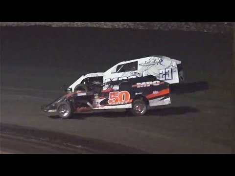 The Great Storm of April Makeup Race. 25 LAPS - RESULTS: 1 #50 Michael Paul Jr, 2 #5 David Spriggs, 3 #83r Jeff Hudson, 4 #34j Jeff Faulkner, 5 #03 Kimo ... - dirt track racing video image