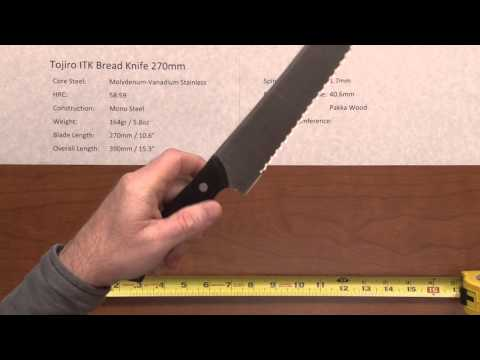 Tojiro ITK Bread Knife 270 Quick Look