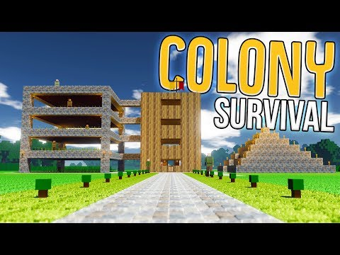 Colony Survival - The Great Science Pyramid! - A Colony Survival City! - Colony Survival Gameplay