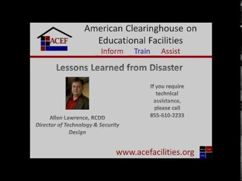 ACEF Webinar - Lessons Learned from Disaster