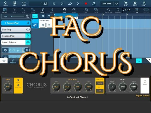 FAC CHorus by Frederic Corvest AUv3 Demo for iPad - Simply Amazing