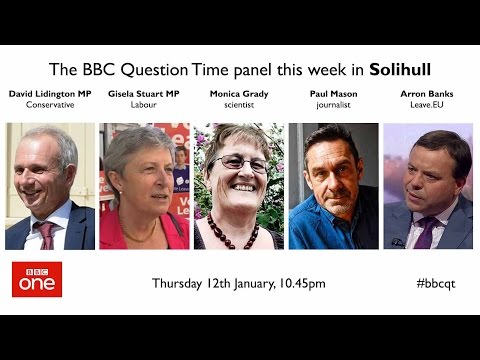 Question Time 12/1/17: Trump dossier, Tory NHS crisis, Brexit and high pay cap