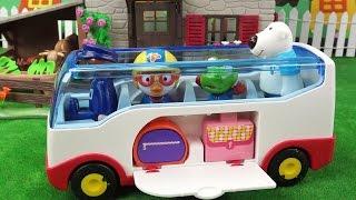 뽀로로 친구들 버스 타고 시골 농장 체험하러 출발 ❤ 뽀로로 장난감 애니 ❤ Pororo Toy Video | 토이컴 Toycom