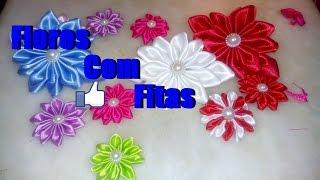 Como fazer flores com fitas