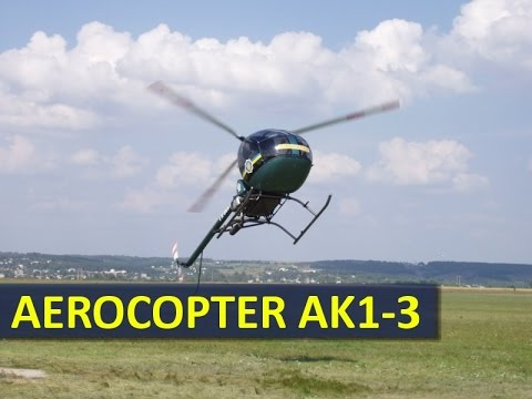 Light utility helicopter / kit Aeroсopter AK1-3. Dynamic demo flight.