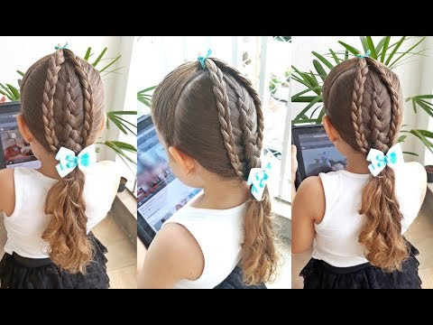 Penteado Infantil Com Tranças Simples Trança Inversa E