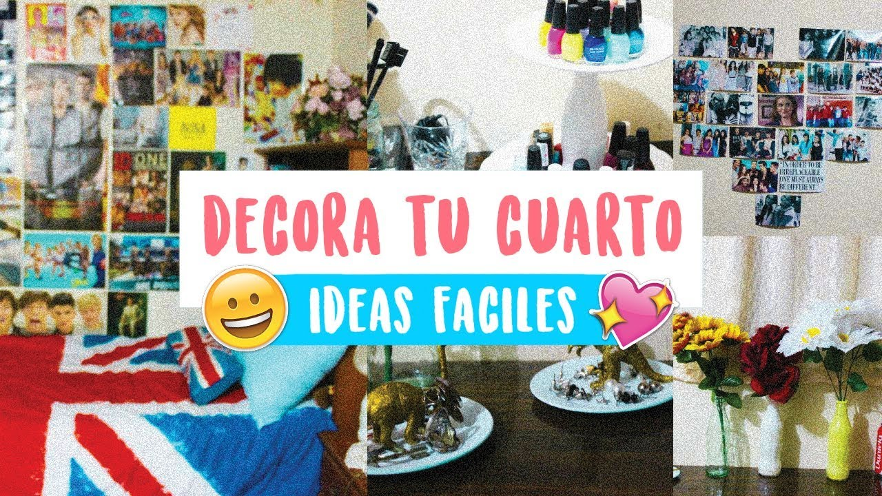 Ideas y diy para decorar y organizar tu cuarto youtube for Ideas de decoracion reciclando