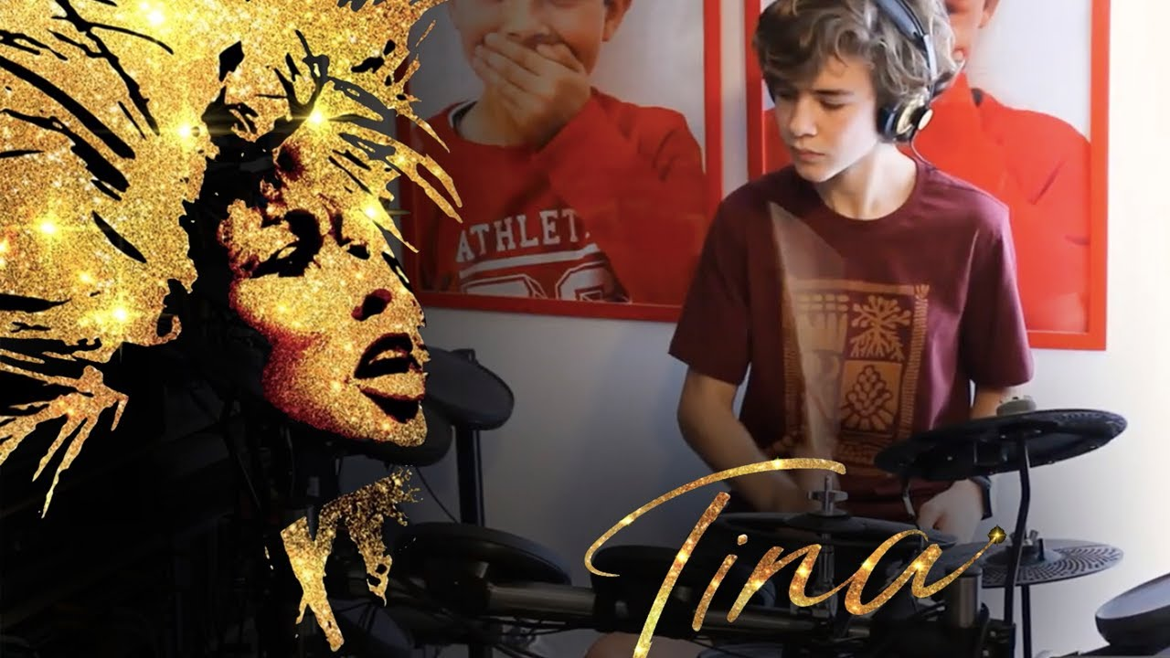 River deep mountain high, Adrienne Warren (Tina Turner), drum, bass and keyboard cover