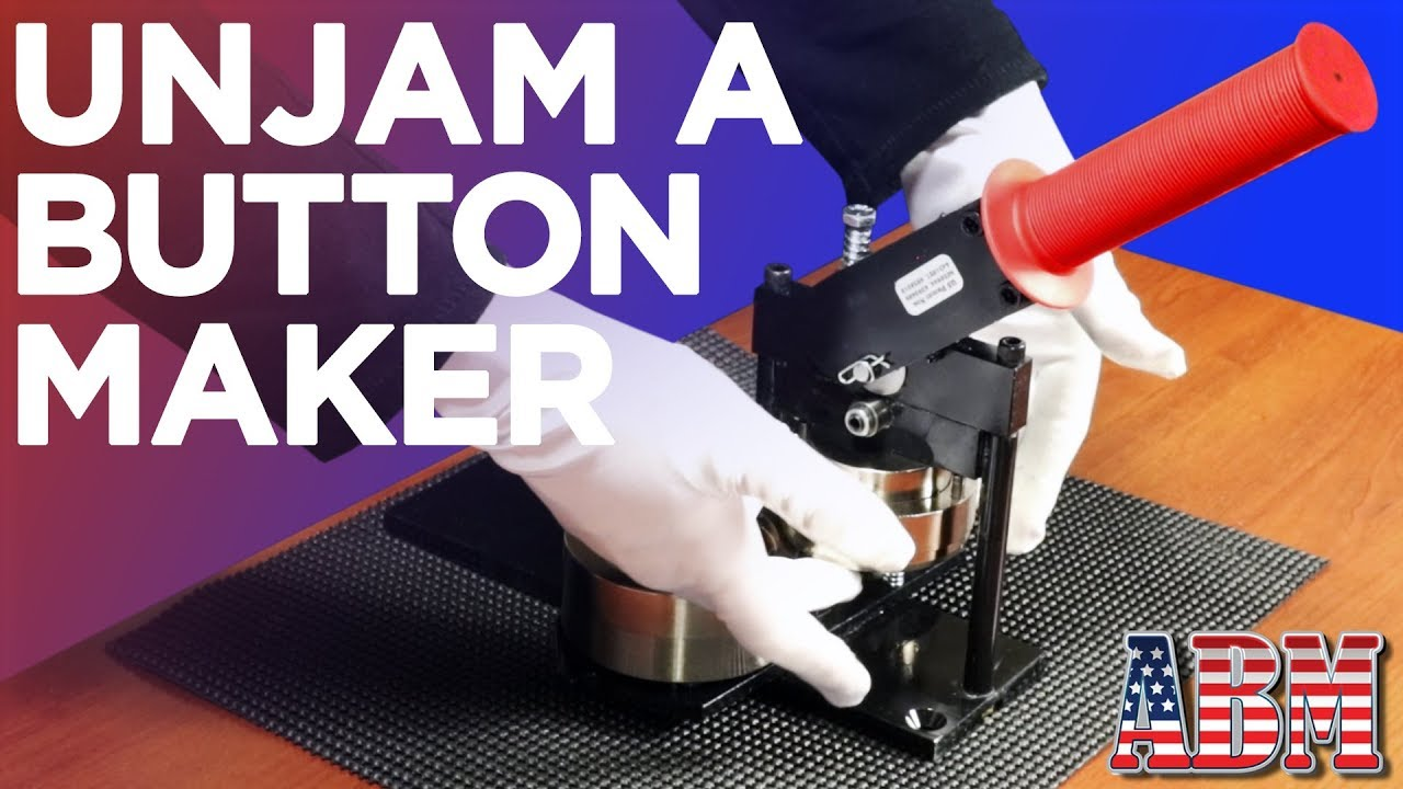 How to unjam a button maker machine - American Button Machines