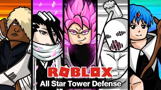 Roblox : All Star Tower Defense #21 อัพเดทฮีโร่สุดเพลีย(Goku Rose, War Hammer Titan, Byakuya, Darui)