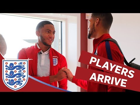 England Players Arrive at Camp Ahead of Brazil and Germany Matches | Inside Access
