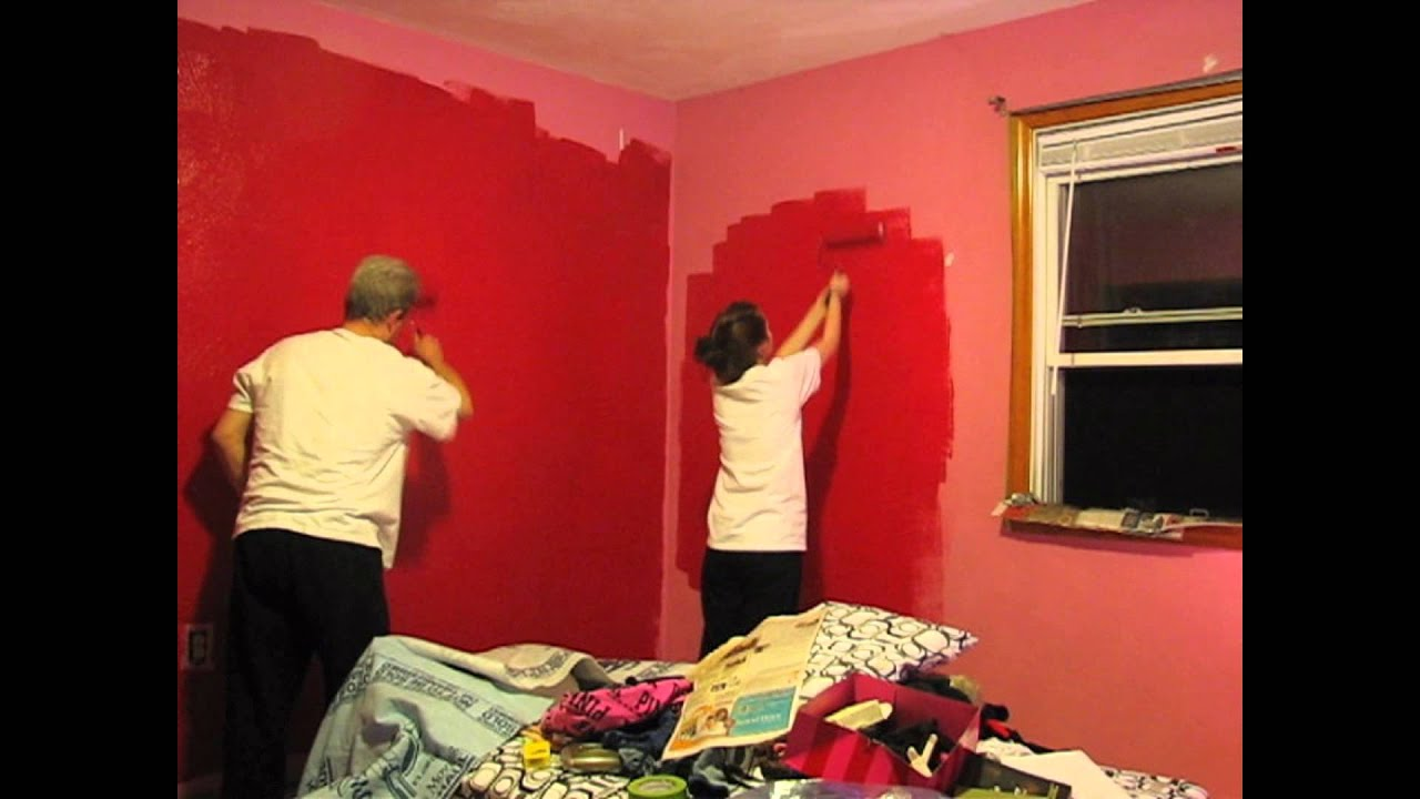 painting my room red day 1 youtube