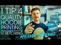 Custom Hoodie Printing, How to get a better quality hoodie print and stretching my own screens