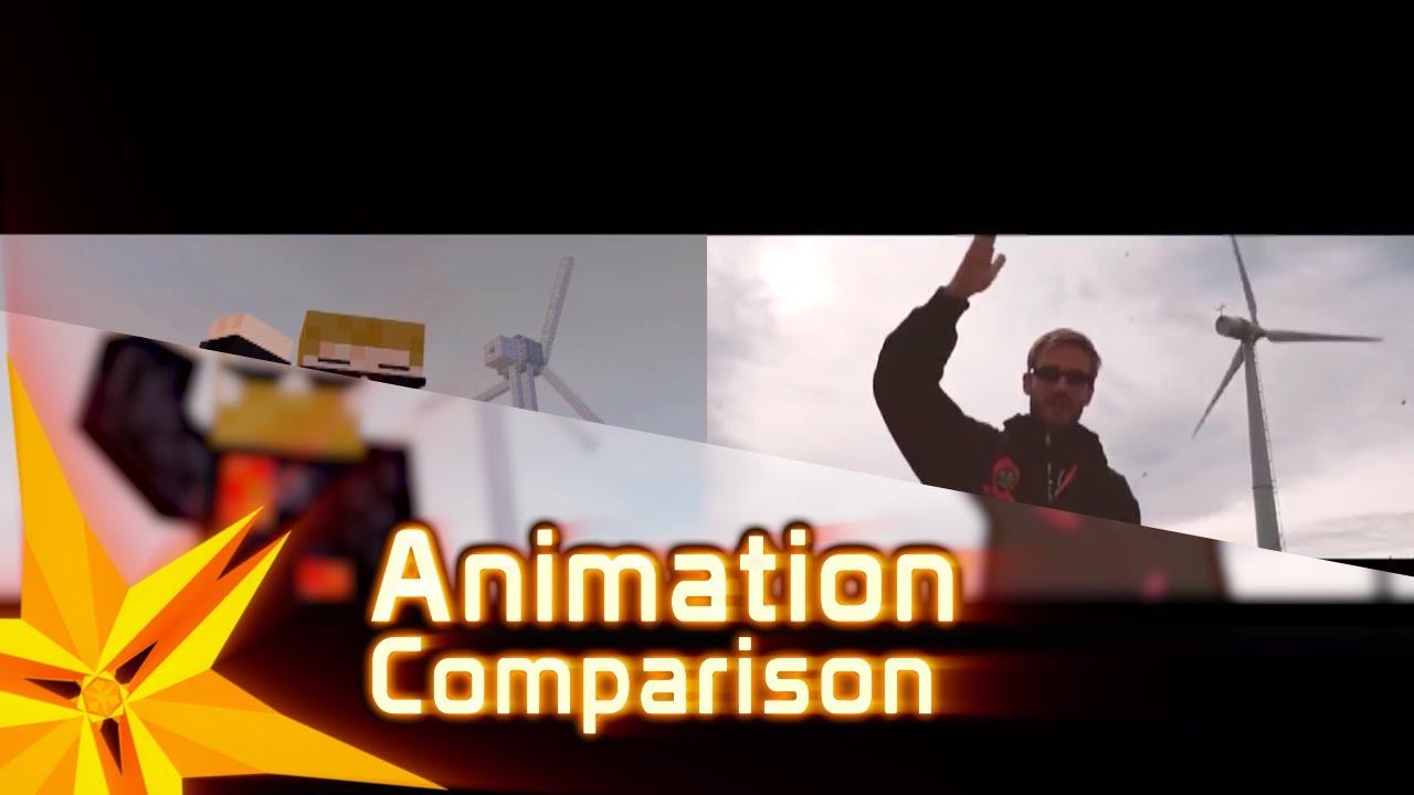 Comparison Of Bitch Lasagna Minecraft Animation With Original Youtube