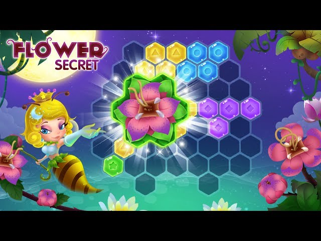 Flower Secret - A combination of the hex block puzzle and match-three game