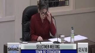 Town of Stoughton Selectmen Meeting 12/04/18
