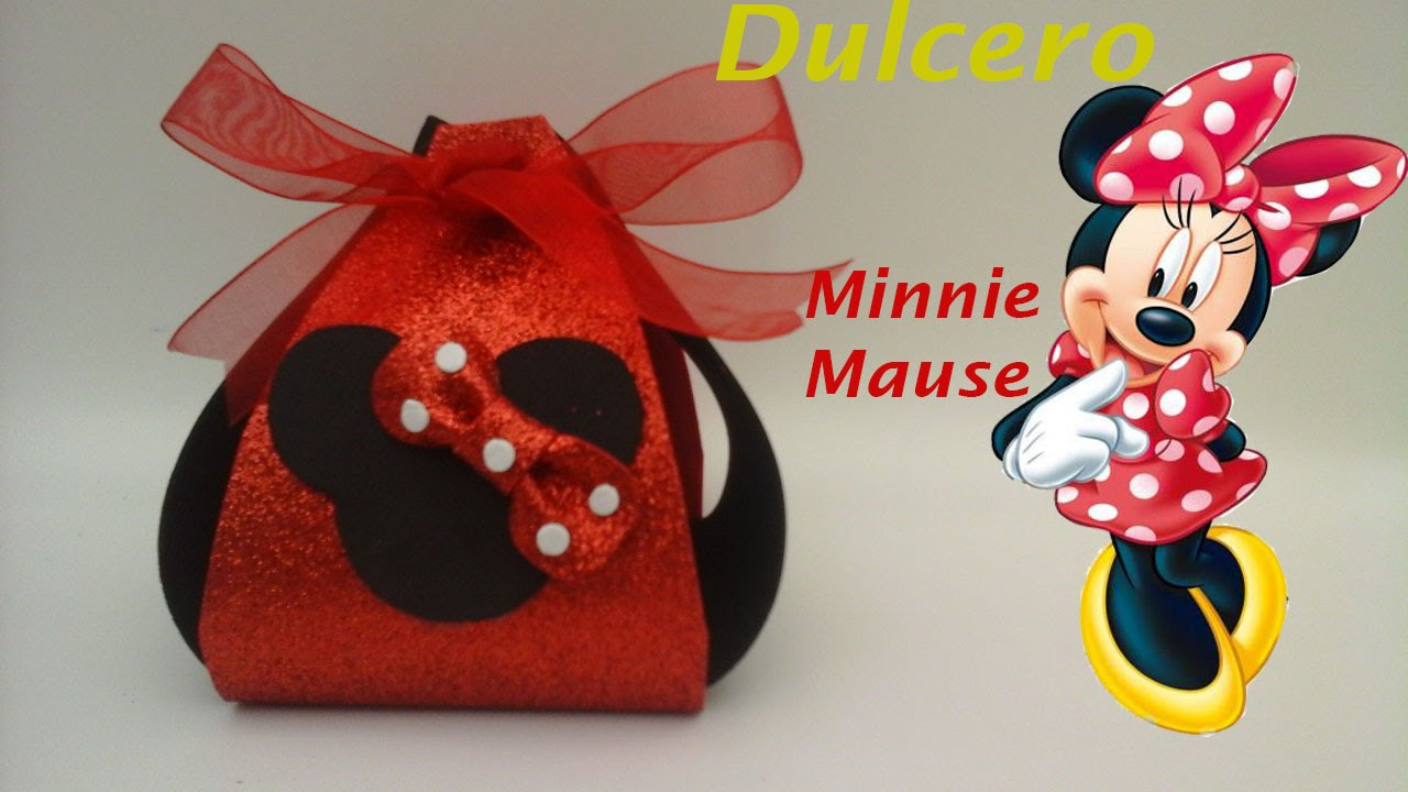Dulcero de Minnie Mouse de foamy para fiestas infantiles. - YouTube