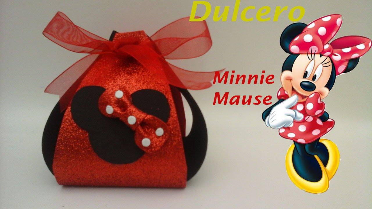 548f118ae Dulcero de Minnie Mouse de foamy para fiestas infantiles. - YouTube