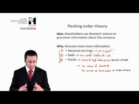 LSBF ACCA P4: Lecture on Theories on Capital Structure
