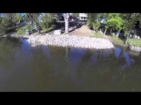 Cobble Stone Erosion Control Retaining Wall Youtube