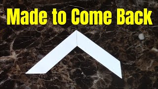 Easy Origami Boomerang-Step by Step Instructions.