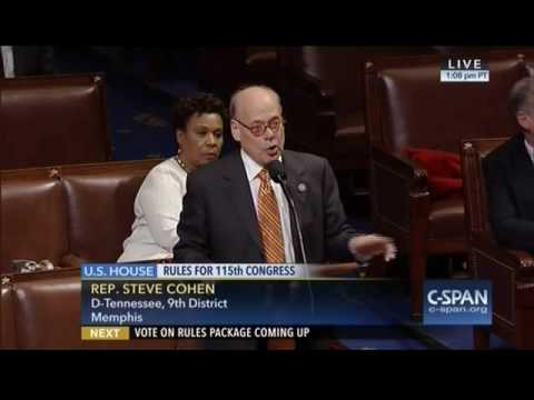 Congressman Cohen Speaks Out Against the 115th Congress Rules Package