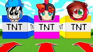 ¡NO ELIJAS LA TNT del COMPA EQUIVOCADO! 😱💥 CONSTRUIMOS LAS TNT GIGANTES en MINECRAFT