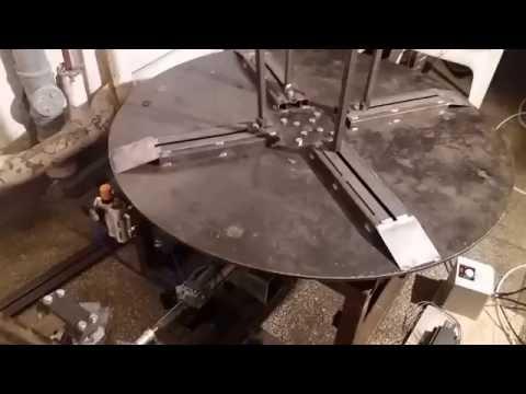 DIY Wire Decoiler First Run - YouTube