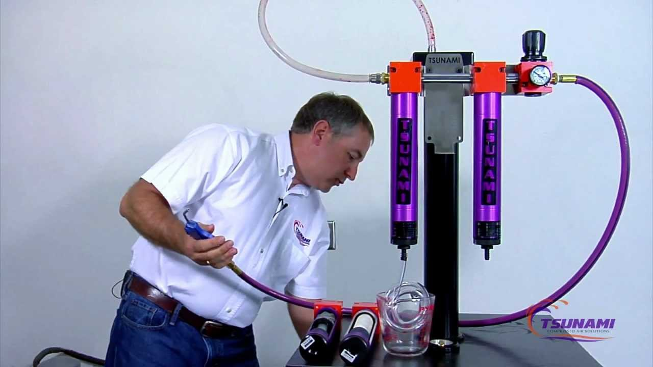 Remove Water From a Compressed Air System - YouTube