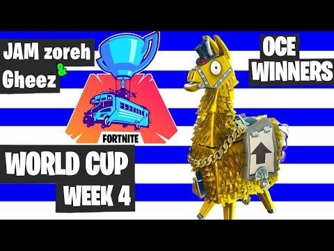 JAM Zoreh & Gheez Fortnite World Cup Highlights - Oceania Winners [Fortnite Tournament 2019]