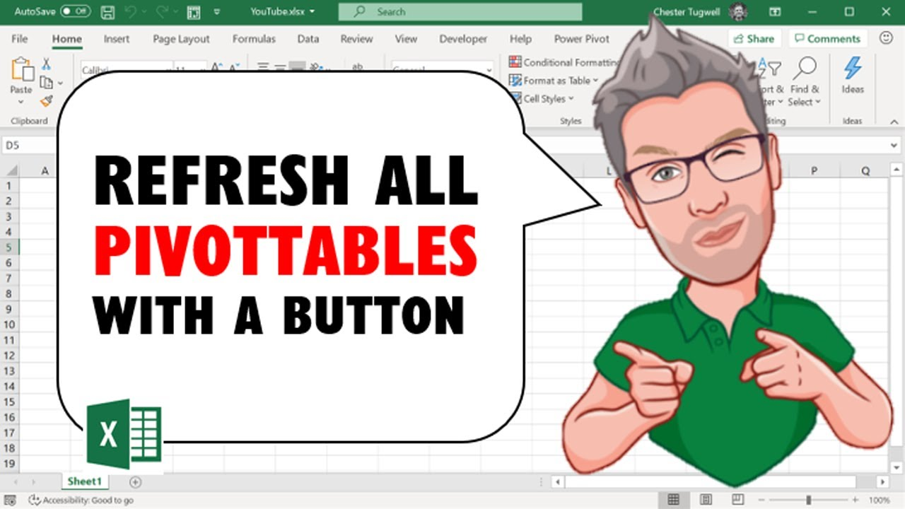 Excel VBA to Refresh All PivotTables With a Button