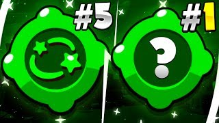 THE TOP 5 GADGETS in BRAWL STARS!