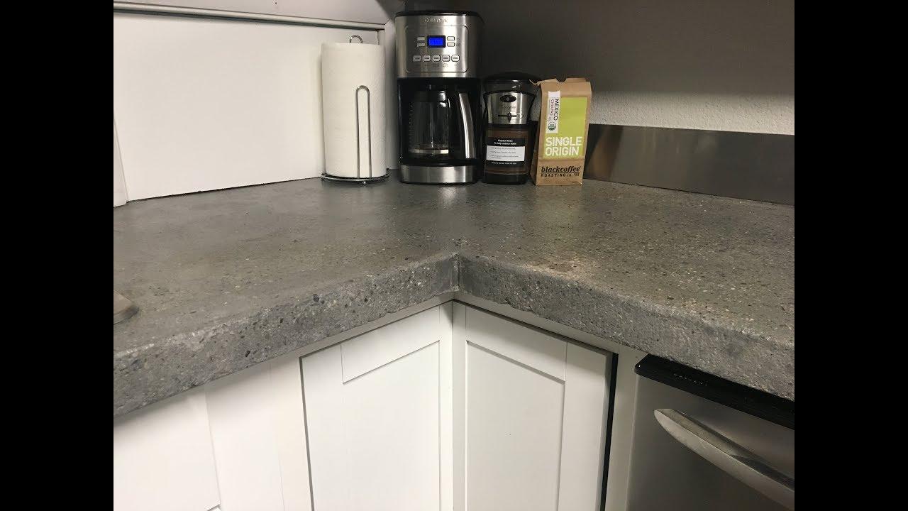 How To Build A Concrete Countertop Part 3 Wet Sanding