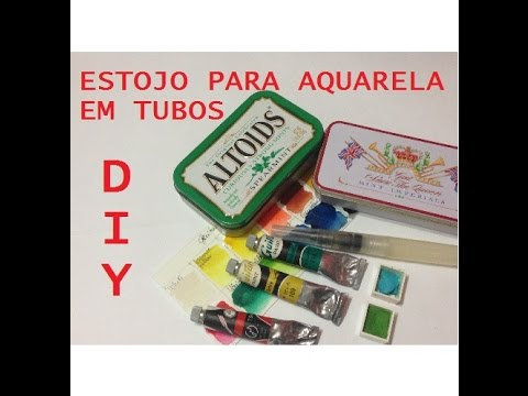 Estojo para Aquarela em tubos, como fazer? (Watercolor kit, how to?) - DIY - VIDEO