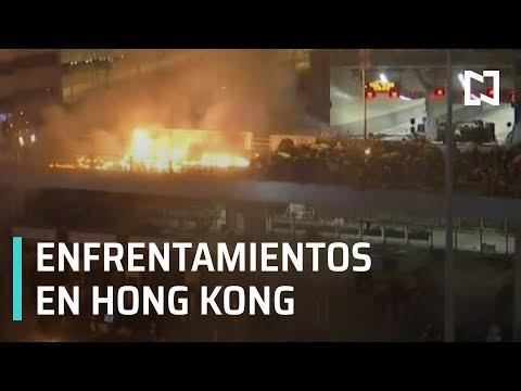 Enfrentamientos continúan durante nuevas protestas en Hong Kong - Las Noticias