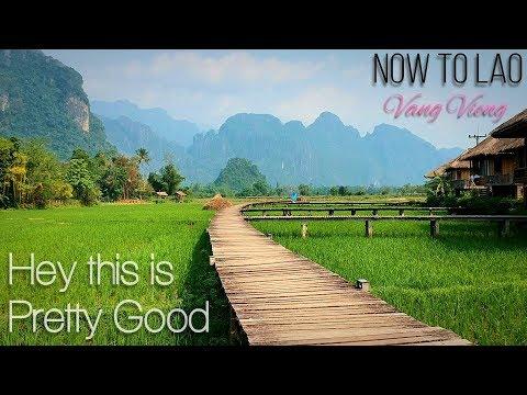 Travel Laos: Vang Vieng Riverside Restaurant and Luxury Vieng Tara Villa accommodation - Now to Lao