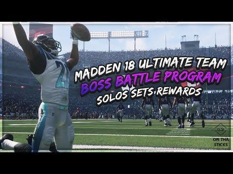 Madden 18 Ultimate Team Boss Battle Program Overview Solos Sets Rewards #MUT Level 1 & Level 2 Solos
