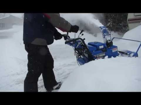 Best snowblower - Yamaha YS928 in action