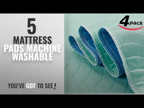 Top 10 Mattress Pads Machine Washable [2018]: Extra Absorbent Under Pad - Machine Washable -