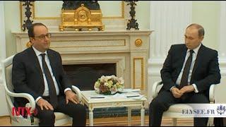 Putin y Hollande coinciden en luchar juntos contra el Estado Islámico