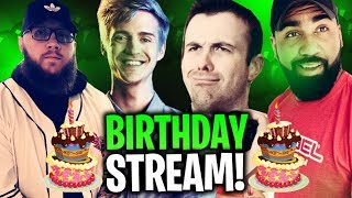 C'est mon anniversaire!! D'ÉNORMES TIPS/GIFTED SUBS! W/ NINJA, DRLUPO - ACTIONJAXON - Fortnite Battle Royale